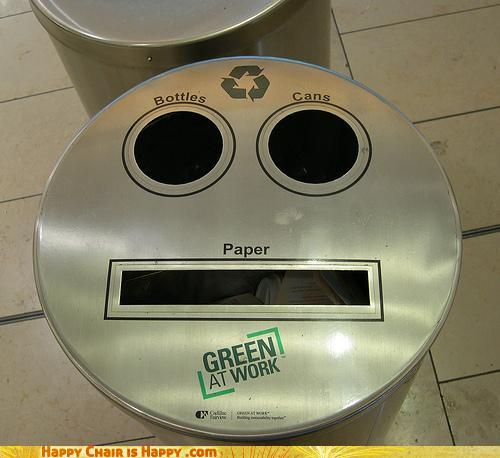 Objects With Faces - Nom Nom Nom Recycling...AH MY EYES!