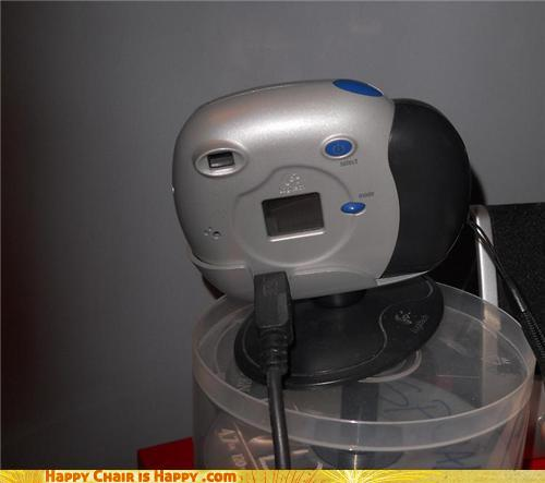 Objects With Faces - Surprised Webcam Thought He'd Seen It All