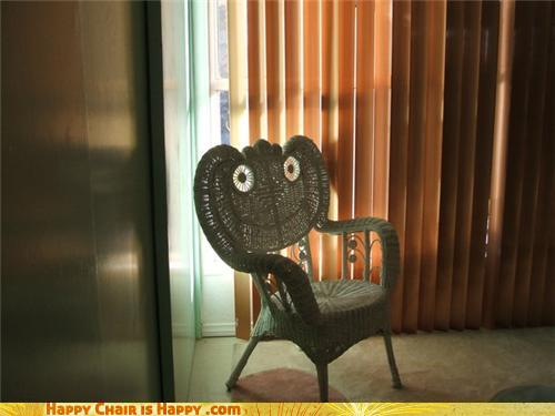 Objects With Faces - Wicker Chair Is Off Her Meds