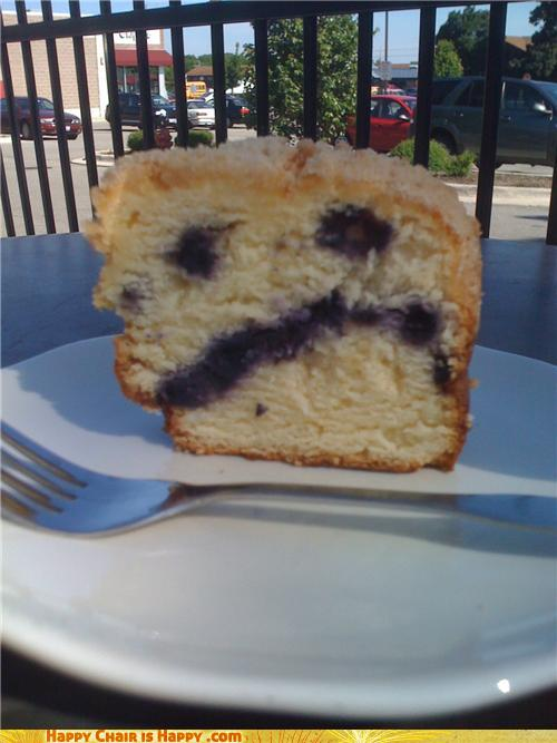 Objects With Faces - Coffee Cake Is Blue(Berry)