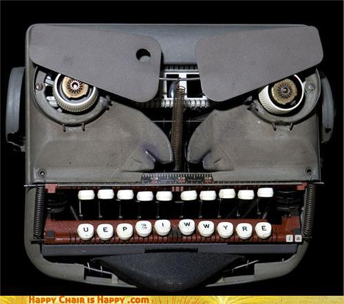 Objects With Faces - Old Man Typewriter Is Not Obsolete