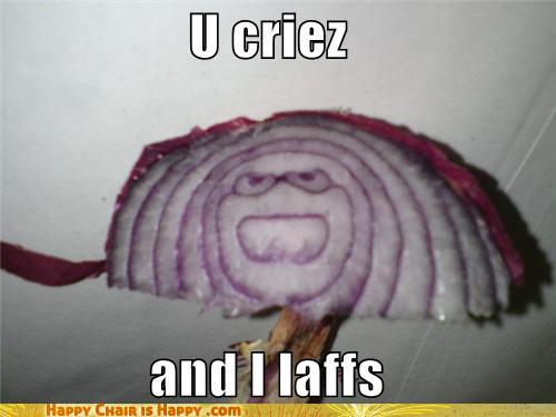 Objects With Faces-Onions Are So Mean