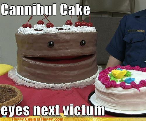 Objects With Faces - Cannibul Cake