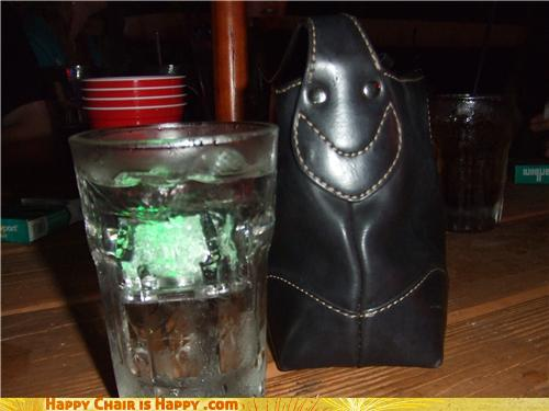 Objects With Faces - Uptown Purse Is Totally Trashed On Mint Julep