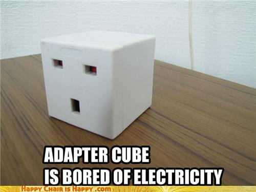 Objects With Faces - Power cube is bored of electricity