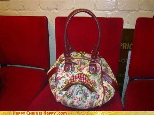Objects with faces - Insufferable Old Lady Bag