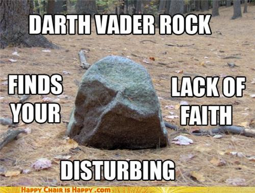 Objects With Faces - Darth Vader Rock...
