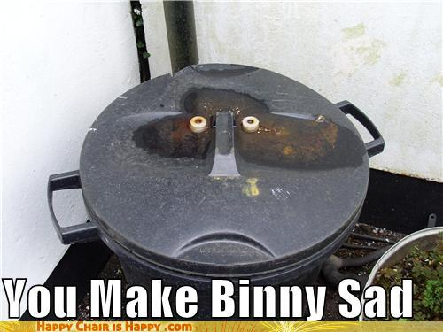 Objects With Faces-You Make Binny Sad