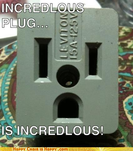 objects with faces-Incredulous plug is incredulous!!!