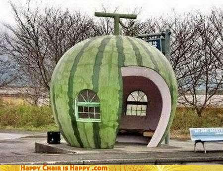 Objects With Faces-Watermelon House