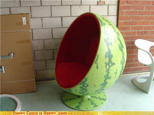 Objects With Faces-Watermelon Chair