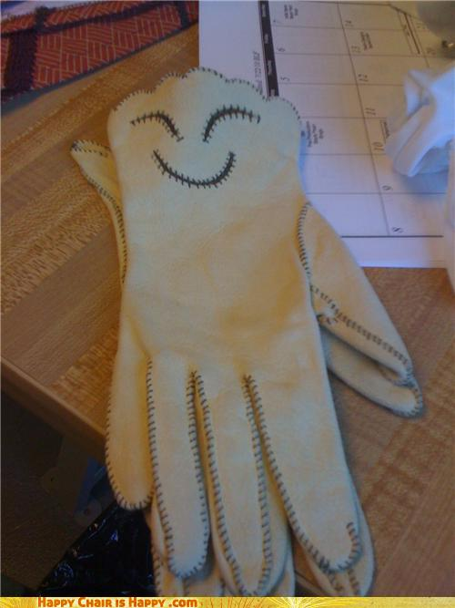 objects with faces-Happy Gloves Are So Glad You're Gardening Again