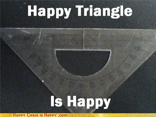 Objects With Faces-Happy Triangle Is Happy
