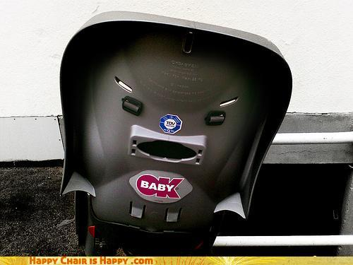 Objects With Faces-Angry Car Seat Wants Your Baby to SHUT UP