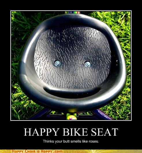 Objects With Faces-HAPPY BIKE SEAT