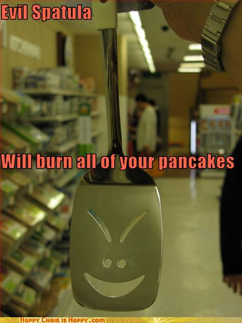 objects with faces-Evil Spatula Will burn all of your pancakes
