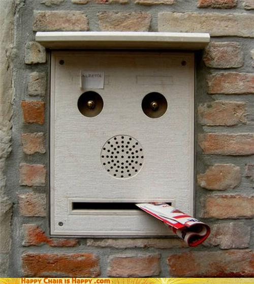 Objects With Faces-Hungry Mailbox Eats 'Zines Like You for Breakfast