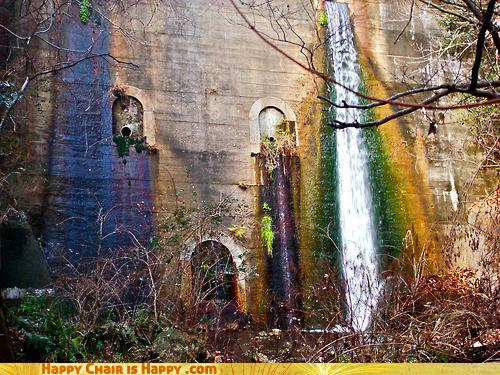 Objects With Faces-Weepy Dam Will Cry You... A Rainbow?