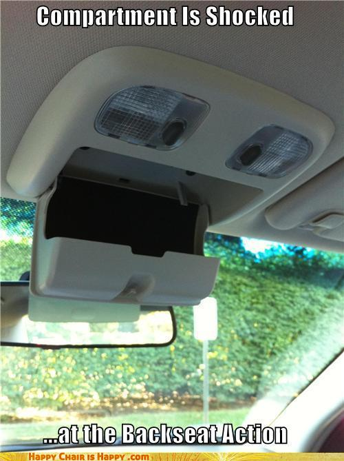Objects With Faces-Compartment Is Shocked ...at the Backseat Action