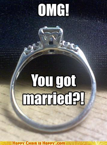 objects with faces-OMG! You got married?!