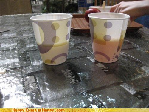 Objects With Faces-Pessimistic Cups Know The Glass Is Half Empty