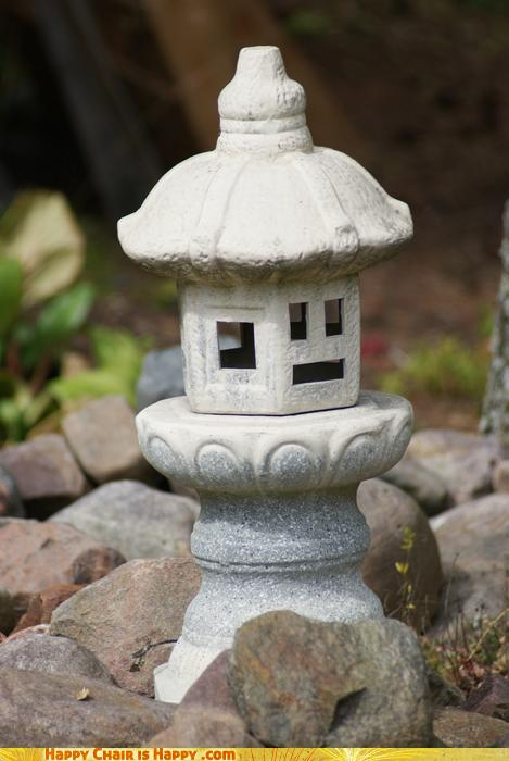 objects with faces-Serious Lantern Says NO TALKING in the Monastery