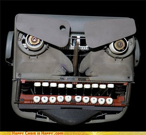 Objects With Faces-Perturbed Typewriter Wonders if You Even Read Ayn Rand