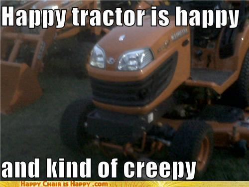 Objects With Faces-Happy Tractor is Happy...