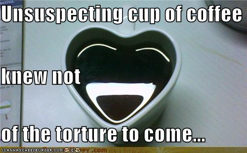 Objects With Faces Unsuspecting cup of coffee