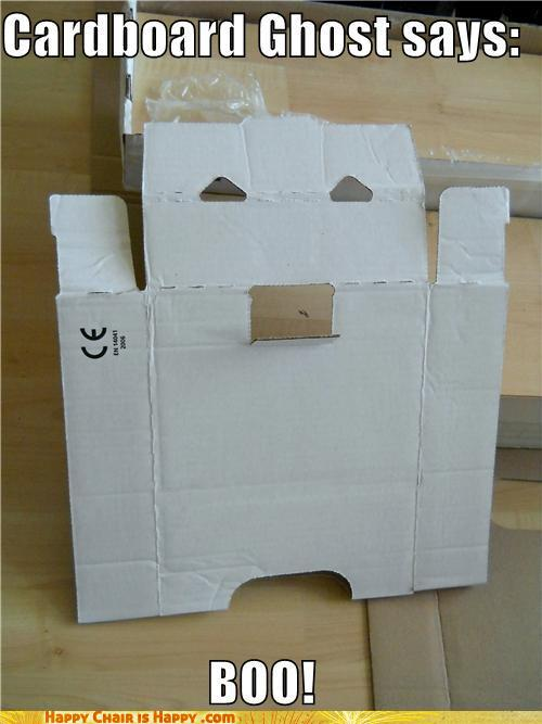 Objects With Faces-Cardboard Ghost