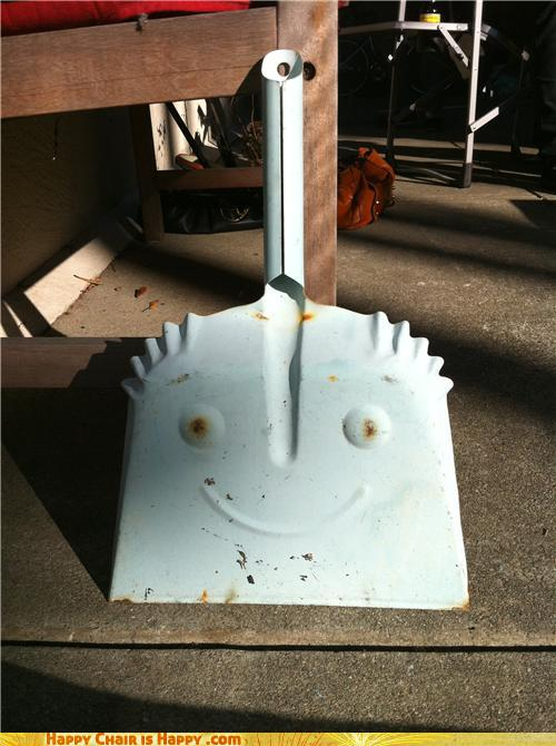 Objects With Faces-Happy Dustpan is a Little Bit OCD