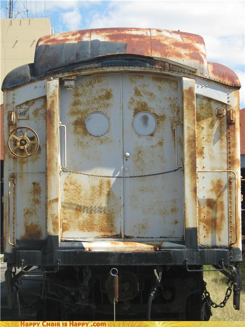 Objects With Faces-Happy Train Is Rusty but Happy