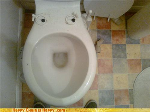 Objects With Faces-Smug Toilet Will Have the Last Laugh
