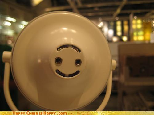 Objects With Faces-Happy Lamp is Happy to Help Out!