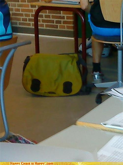 Objects With Faces-Sad Panda Bag is a Sad Panda