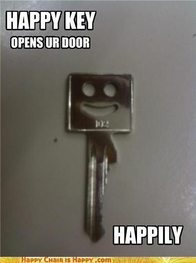 Objects With Faces-HAPPY KEY OPENS UR DOOR HAPPILY