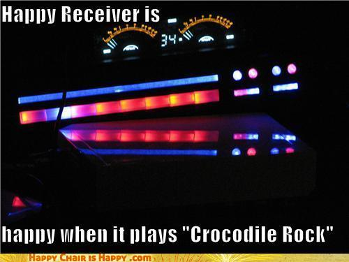 objects with faces-Happy Receiver is Happy When it Plays 'Crocodile Rock'