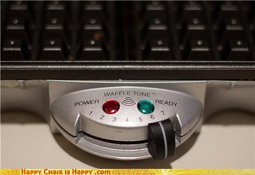 Objects With Faces-Happy Waffle Maker Will Happily Burn Your Waffles
