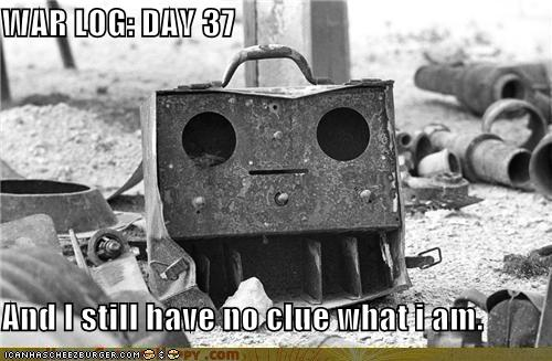 Objects With Faces-WAR LOG: DAY 37