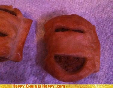 Objects With Faces-Happy sausage roll is happy!