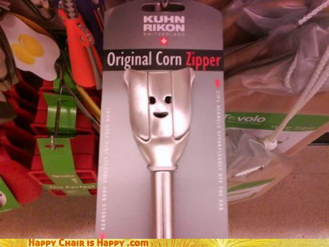 Objects With Faces-Happy Corn Zipper Will Happily Zip Your Corn