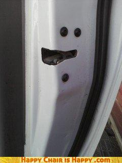 Objects With Faces-Derp Door Has Been Slammed a Few Too Many Times
