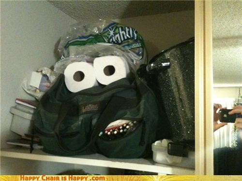 Objects With Faces-Closet Monster Demands Toiletry Sacrifices!