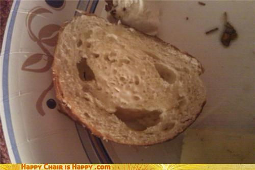 objects with faces-Happy Bread is in a Butter Mood Than You