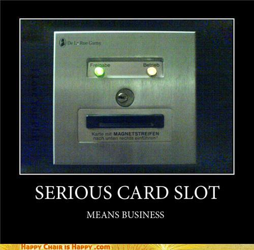 Objects With Faces-SERIOUS CARD SLOT MEANS BUSINESS