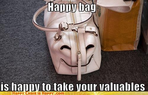 objects with faces-Happy Bag