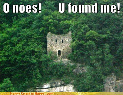 Objects With Faces-O Noes! U Found Me!
