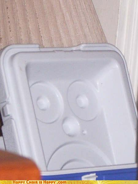 Objects With Faces-Alarmed Cooler is Pretty Sure You're Forgetting Something...