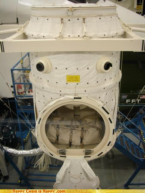 Objects With Faces-Alarmed Space Capsule is Alarmed by His Acne