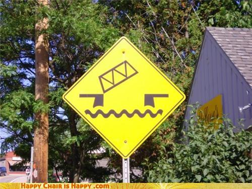 Objects With Faces-Perturbed Sign Disapproves of Your Drawbridge